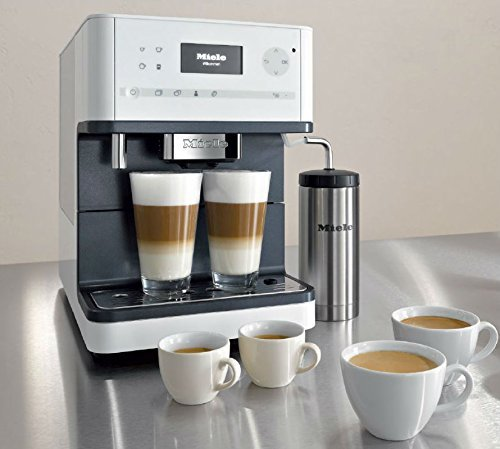 Fully Automatic Espresso Maker - Miele CM6350 Countertop Coffee Machine, Lotus White