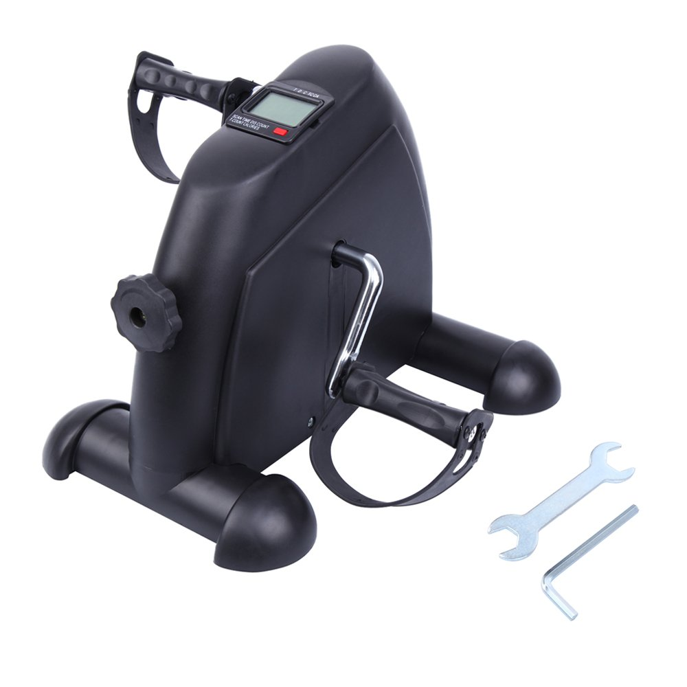 Paneltech Mini Bike Home Trainer Allenatore Braccia e Gambe Pedal Trainer Pedale della Bici Esercizio Pedale Exercycle con Monitor LCD