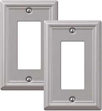Switch Plate Outlet Cover Rocker GFCI Toggle Light Wall Plate Brushed Nickel