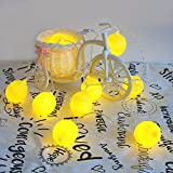Fashion Holiday Decorative Lighting 10Leds Novelty Lemon String Lights Wedding Garden Party Bedroom Warm color Decora
