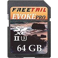 FreeTail Evoke Pro 1000x 64GB SDXC UHS-II/U3 Card, Up to 240 MB/s v60 (FTSD064A10)