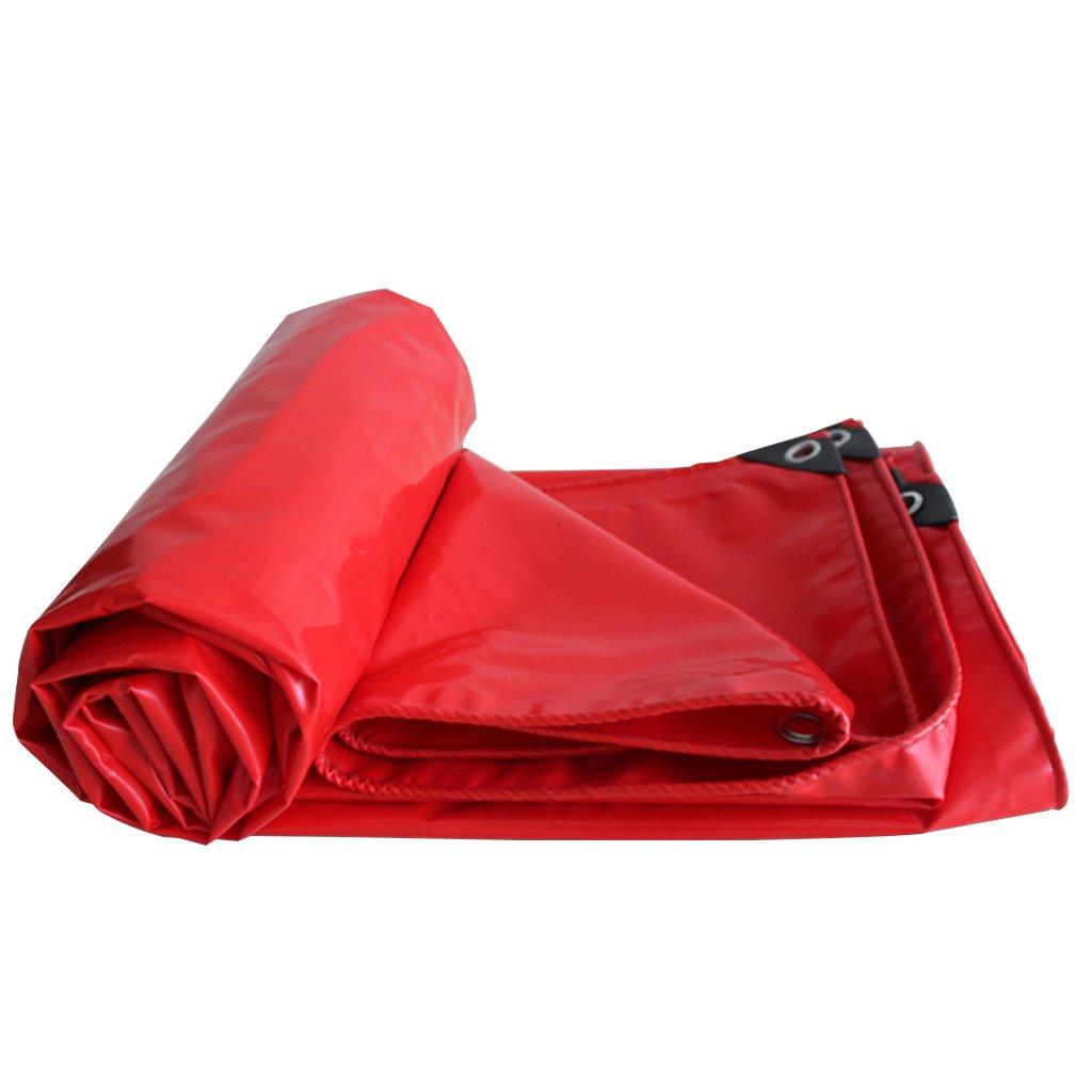 防水ターポリン、耐摩耗性防水シート、キャンプテント及びその他の場合着用トラック用ターポリンを適用、マルチサイズ (色 : Red, サイズ さいず : 4m*6m) B07FS9P9PG 4m*6m|Red Red 4m*6m