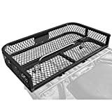 Black Widow Rage Powersports ATVRB-3922 ATV Rack-Mounted Steel Mesh Surface Cargo Storage Basket (Rear)