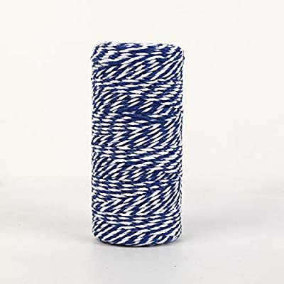 NewTrend 328 Feet Cotton Twine for DIY Craft, Packing, Decoration and Gardening, 3Ply Durable String and Eco-Friendly(Navy) : Office Products