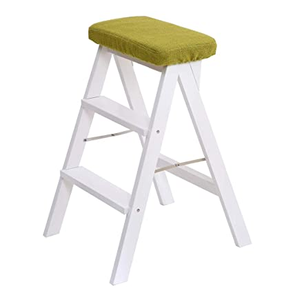 Pleasant Mz Step Ladder 2 Step For Bedside White Foldable Wooden Step Squirreltailoven Fun Painted Chair Ideas Images Squirreltailovenorg