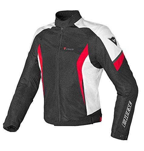 (Dainese Air Crono Mens Mesh Textile Jacket Black/White/Red 46 USA/56 Euro)