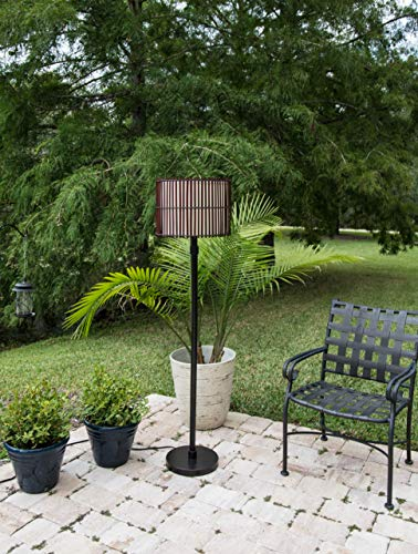 Outdoor Rattan Floor Lamp in US - 5