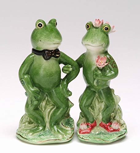 ATD 4.5 Inch Bride and Groom Alfrogo & Frogalina Salt and Pepper Shakers
