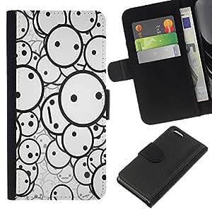 JackGot ( Smiley Patrón ) Apple iPhone 5C la tarjeta de Crédito Slots PU Funda de cuero Monedero caso cubierta de piel