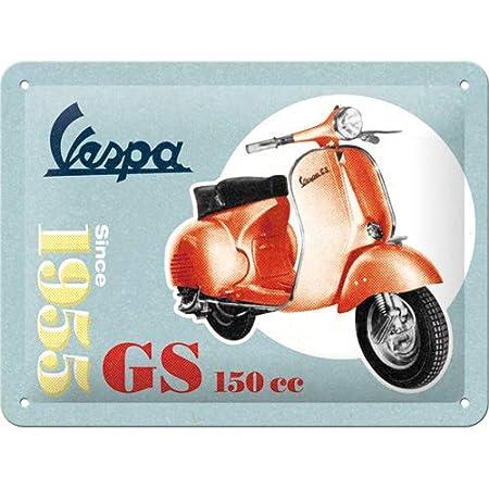 Nostalgic-Art Vespa de GS 150 Since 1955 Cartel de Chapa 15 x 20 cm, Metal, 15 x 20 cm