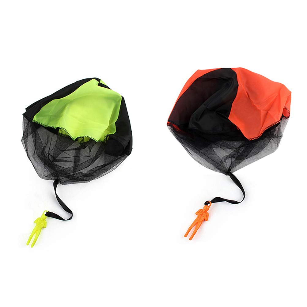 Toyvian 8pcs Children Tangle Free Hand Throw Mini Soldier Parachute Toy Classic Fly Toys for Kids Outdoor Sports (Blue + Orange + Yellow + Rose Red 2pcs for Each) by Toyvian (Image #5)