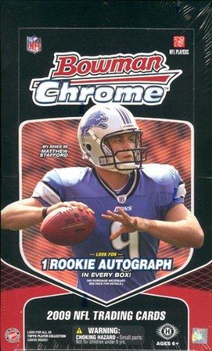 2009 Bowman Chrome Football Hobby Box - NFL Football Cards