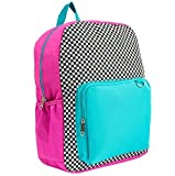 Yoobi 17'' Standard Backpack Black/White Checker Color Block