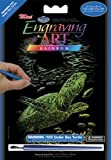 Royal Brush Mini Rainbow Foil Engraving Art Kit, 5 by 7-Inch, Undersea Turtle