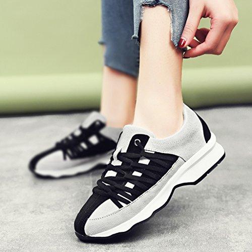 HWF Chaussures femme Chaussures de course de sport de printemps des femmes Casual Plate femmes ( Couleur : Noir , taille : 36 ) Noir