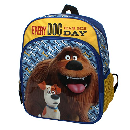 Secret Life of Pets Every Dog Has His Day 12-inch Kids School Backpack Bag Blue