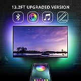 13.2Ft TV Backlights USB Light Strip Kit for 55'-70' TV, Mirror, PC, APP Control Sync to Music, Bias Lighting, 5050 RGB...