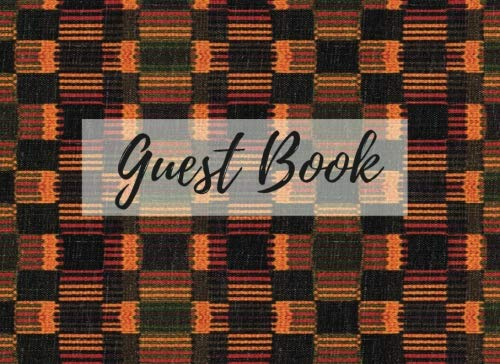 Search : Guest Book: (African Fabric (10), Event Guest Book, For Events, Anniversary, Retirement Party, Wedding, Birthday,101 pages - [Professional Binding]