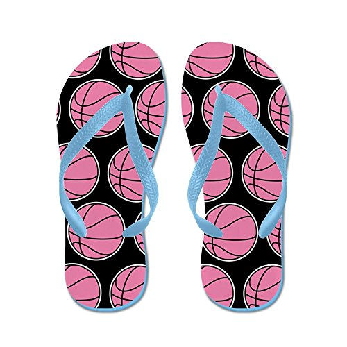 Cafepress Basket Girls Pink - Infradito, Sandali Infradito Divertenti, Sandali Da Spiaggia Blu Caraibico