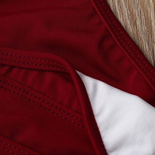 Rosso da V Donna sexy bagno Beach Costumi perizoma Yanhoo® Pants costumi bagno bikini bikini costume da YZxw0qE0R