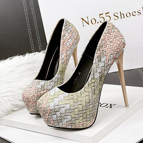 Be Women'S Will Heels apricot Shoes 14cm Spell With Single High Table Chatter Ultra a Waterproof Dance Color qqxw7rfp