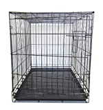YML 36-Inch Dog Kennel Cage with Wire Bottom Grate and Plastic Tray, Black For Sale