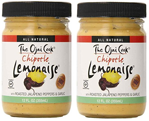 The Ojai Cook Chipotle Lemonaise - Organic, Spicy Chipotle Mayo Aioli Made With Cage-Free Eggs, Roasted Jalapeno Peppers and Garlic - 12 fl oz (Pack of 2)