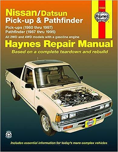 wiring diagram for 87 nissan truck nissan datsun pickup  80 97  pathfinder  87 95  haynes repair  nissan datsun pickup  80 97