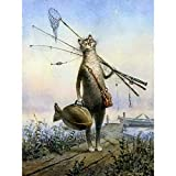 Adults 16×20 inch Beginner Angling cat Kit Kids Paint by Numbers Acrylic
