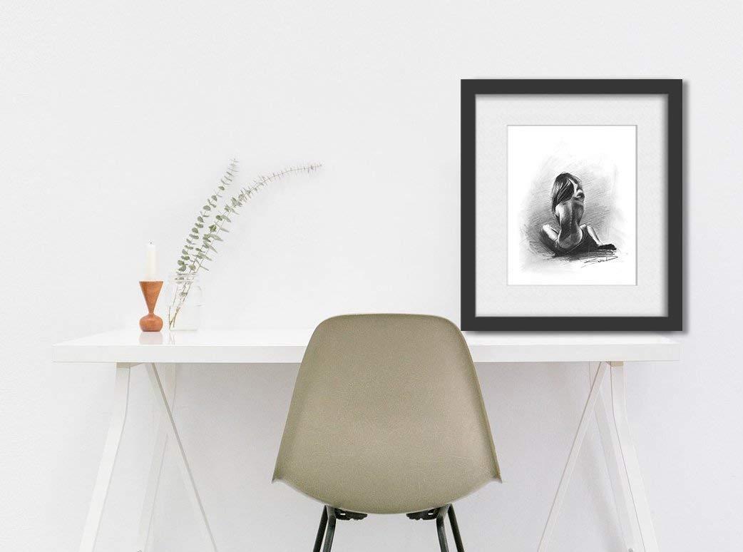 Charcoal Figure Drawing, Nude Art, Naked Woman Art, Erotic Art, Erotic, Nude Model by SignedSweet (Image #1)