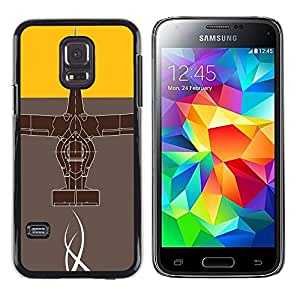 A-type Arte & diseño plástico duro Fundas Cover Cubre Hard Case Cover para Samsung Galaxy S5 Mini, SM-G800 (Diseño abstracto)