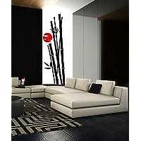 budhasuite Vinilo Decorativo Bamboo Sunset.(190x55cm. y 30x30cm. Aprox.)