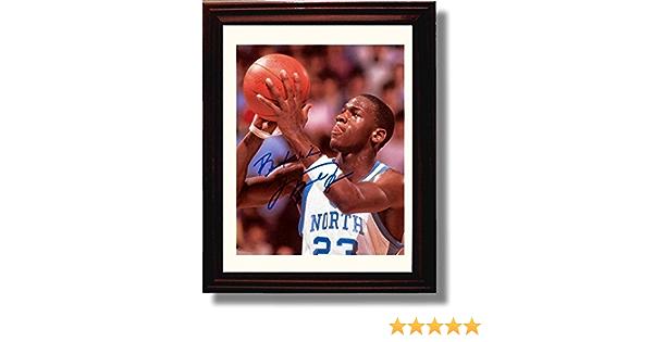 Michael Jordan Legend Autograph Replica Print 8x10 Print Framed North Carolina Tarheels