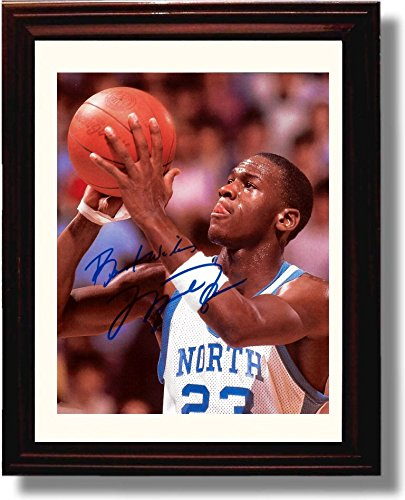(Framed North Carolina Tarheels - Michael Jordan