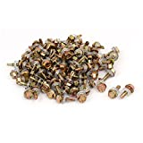 uxcell 12#x3/4'' Hex Washer Head Self Tapping Drilling Screw Bolt Bronze Tone 100pcs