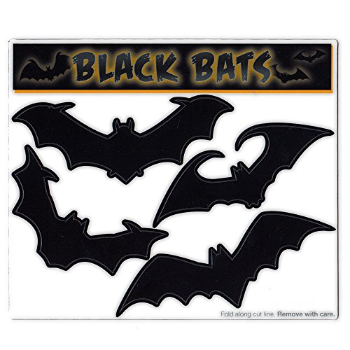 Magnet Variety Pack (4 Magnets) - Large Black Bats (Halloween) - Refrigerators, Cars, Mailboxes, Decoration - 3.5