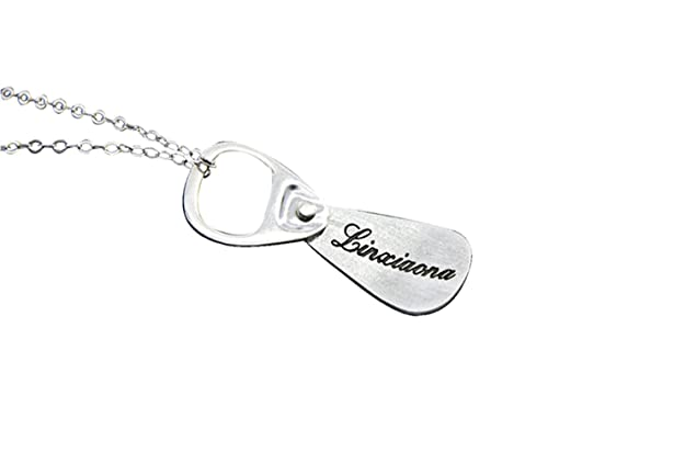 Hacool Unisex Mens Jewelry Solid Sterling Silver Pop Can Pull Tab