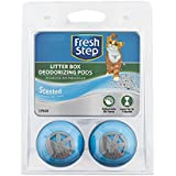 Fresh Step Litter Box Deodorizing Pods | Stick to Litter Box to Eliminate Odors, 2 Count, Fresh Scent