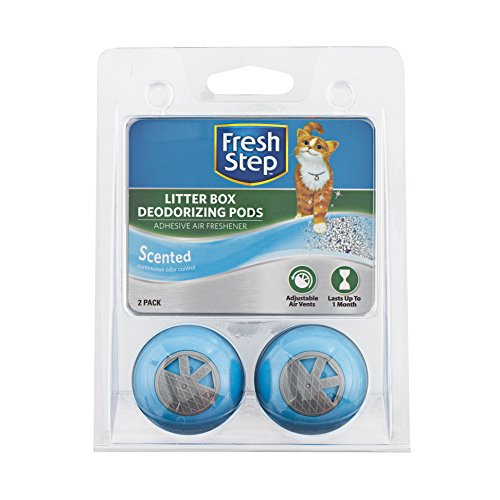 Litter Box Freshener - Fresh Step Cat Litter Box Deodorizing Pods In Fresh Scent | Cat Deodorizer Pods For Litter Box, 2 Count