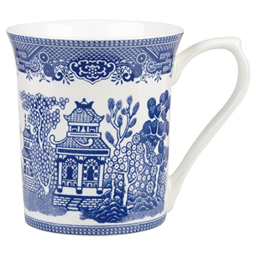 Blue Bone Dish - Churchill Queens Blue Willow Fine Bone China Gift Coffee Tea Mug