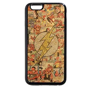 """Onelee The Flash Custom Phone Case for iPhone 6 4.7"""", DC comics The Flash Customized iPhone 6 4.7"""" Case, Only Fit for Apple iPhone 6 4.7"""" (Black Soft Rubber)"""