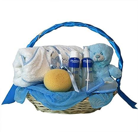 431d61374 Cesta recien nacido - Hora del baño basica azul - Canastilla regalo bebe   Amazon.es  Bebé