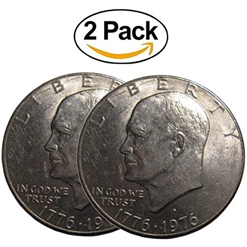 Roll Eisenhower Dollar (Two Pack of Eisenhower Ike Dollars In a Vx Investments Draw String Pouch. Two Rare Old Coins. A Starter U.S. Coins Collection. Dated 1971-1978)