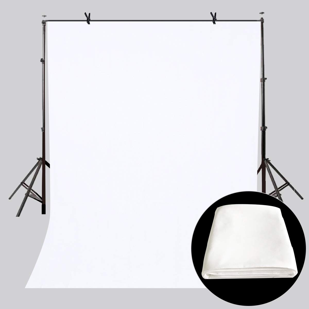 LYLYCTY 5x7ft Backdrop White Screen Key Soft Pure White Studio Background ID Photo Photography Backdrop Photo Backdrops Customized Studio Photography Backdrop Background Studio Props LY164