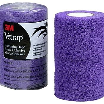 """3M Vetrap Single Roll Bandaging Tape, 4"""" by 5 yd, Purple"""