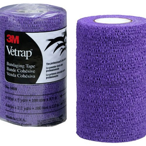 "3M Vetrap Single Roll Bandaging Tape, 4"" by 5 yd, Purple"