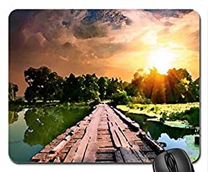 Sunset Mouse Pad, Mousepad (Sunsets Mouse Pad, Watercolor style) by icecream design