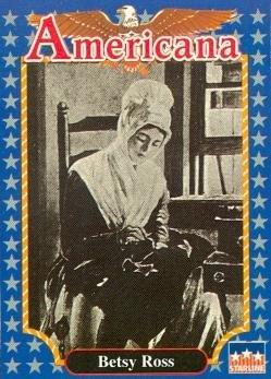 Betsy Ross trading card (Flagmaker) 1992 Starline Americana #205