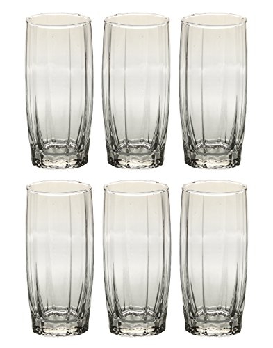 Somil New Clear Transparent Drinking Glass Set of Six, Multipurpose