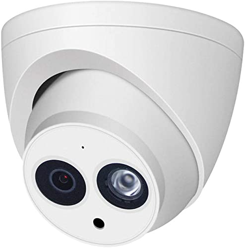 4MP Network Security IP POE Camera Outdoor, OEM IPC-HDW4433C-A, Video Surveillance Camera Turret with Wide Viewing Angle, Night Vision, Smart H.265, IP67 Weatherproof, ONVIF